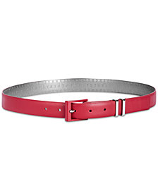 DKNY Double-Keeper Leather Belt, Created for Macy's