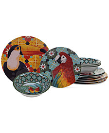 Certified International Paradise Melamine 12-Pc. Dinnerware Set, Service for 4