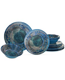 Radiance Teal 12-Pc. Dinnerware Set