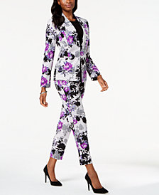 Nine West Floral-Print Blazer, Shell & Floral-Print Pants