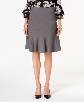 Stretch Flare-Hem Skirt