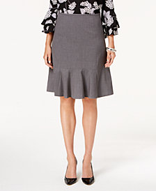 Nine West Stretch Flare-Hem Skirt