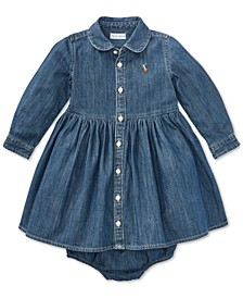 Baby Girls Denim Cotton Shirtdress