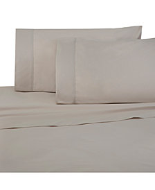 Under The Canopy Solid Brushed Cotton 4-Pc. King Sheet Set
