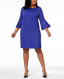 Kasper Plus Size Bell-Sleeve Dress