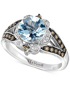 Le Vian® Sea Blue Aquamarine® (1-1/5 ct. t.w.) & Diamond (1/3 ct. t.w.) Ring in 14k White Gold