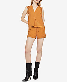 BCBGeneration Sleeveless Shoulder-Tie Top