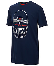 adidas Big Boys Helmet-Print T-Shirt