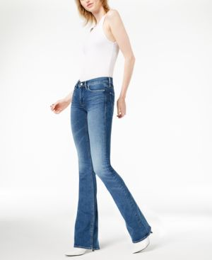 Drew Mid-Rise Bootcut Jeans in Ayon