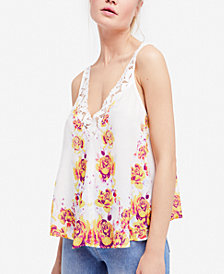 Free People Morning Rose Lace-Trim Camisole