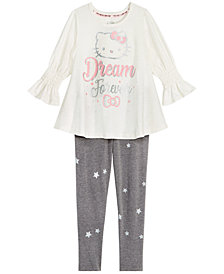 Hello Kitty Little Girls 2-Pc. Graphic-Print Top & Leggings Set