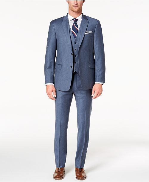 Gray Blue Suit Qk6e