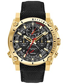 Men's Chronograph Precisionist Black Cordura Nylon Strap Watch 46.5mm