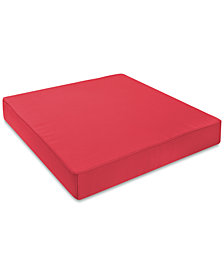 24x24 Red Seat Cushion, Quick Ship