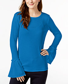 MICHAEL Michael Kors Bell-Sleeve Top, Regular & Petite
