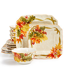 222 Fifth Autumn Celebration Harvest 12-Pc. Dinnerware Set