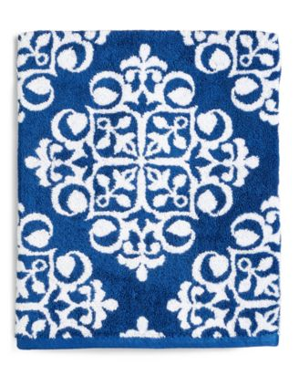 CLOSEOUT! Elite Fashion Medallion Cotton Bath Towel, Created for Macy's
