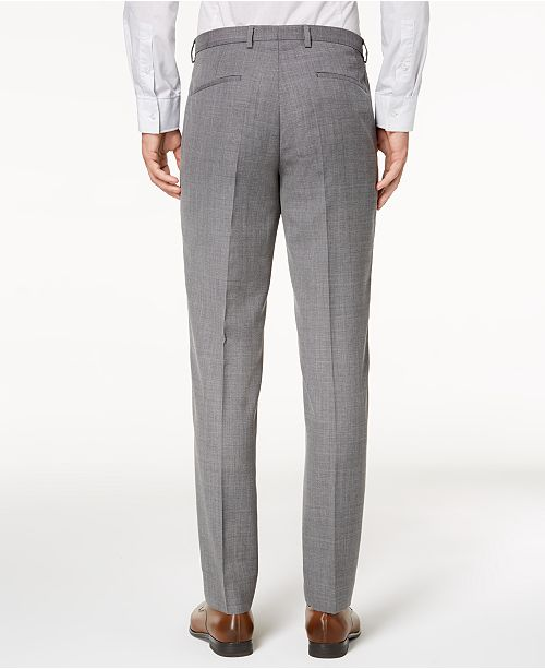 Hugo Boss HUGO Men's ModernFit Light Gray Patterned Suit Pants Awesome Patterned Pants Mens
