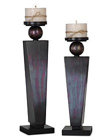 Uttermost Geremia Oxidized Bronze Candleholders, Set of 2