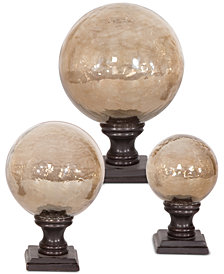 Uttermost Lamya Glass Globe Finials, Set of 3