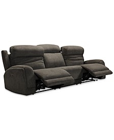 "Winterton 113"" 3-Pc. Fabric Power Reclining Sectional Sofa With 2 Power Recliners, Power Headrests, Lumbar And USB Power Outlet"