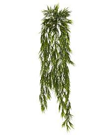 "Nearly Natural 2-Pc. 43"" Mini Bamboo  Artificial Hanging Bush Set"
