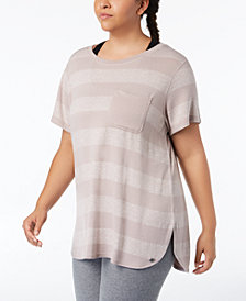 Calvin Klein Performance Plus Size Striped T-Shirt