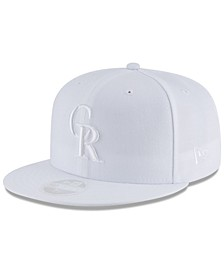 Colorado Rockies MLB White Out 59FIFTY Fitted Cap