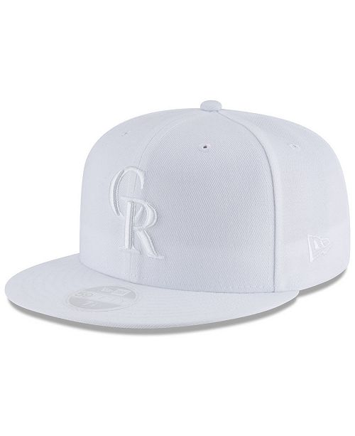 New Era Colorado Rockies MLB White Out 59FIFTY Fitted Cap