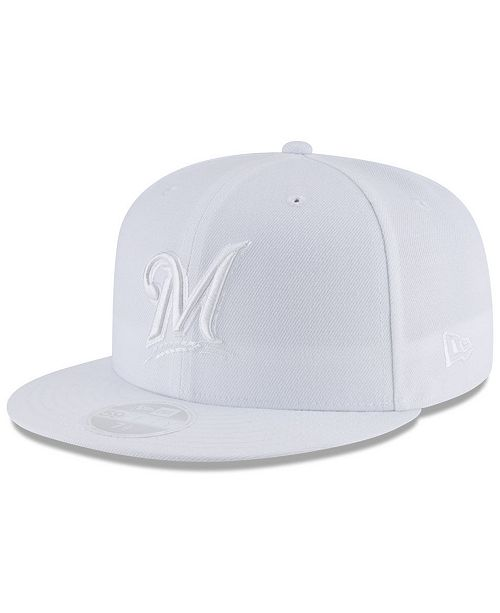 New Era Milwaukee Brewers White Out 59FIFTY FITTED Cap