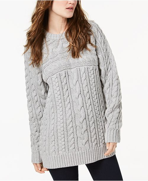 a6569c8fa Michael Kors Cable-Knit Sweater   Reviews - Women - Macy s