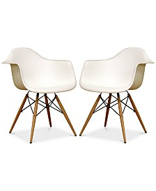 Najia Shell Chair (Set of 2), Quick Ship