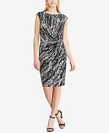 Lauren Ralph Lauren Petite Printed Cap-Sleeve Dress