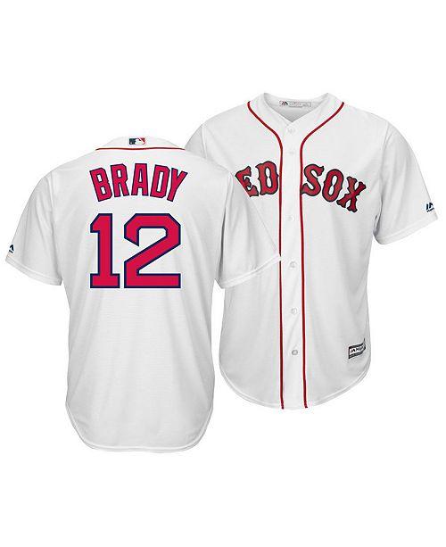 sneakers for cheap 91218 c0737 Men's Tom Brady Boston Red Sox NFLPA Replica Cool Base Jersey