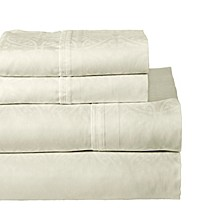 Printed 3-Pc. Twin Sheet Set, 300 Thread Count Cotton Sateen