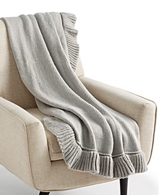 "CLOSEOUT! 50"" x 60"" Ruffle Throw, Created for Macy's"