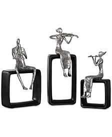 Musical Ensemble Set of 3 Statues