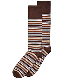 AlfaTech by Alfani Men's Ribbed Striped Dress Socks, Created for Macy's