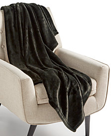 "Charter Club Cozy Plush 50"" x 70"" Throw, Created for Macy's"