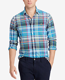 Polo Ralph Lauren Men's Slim Fit Plaid Oxford Shirt