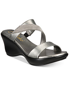 Callisto Preston Slide Platform Wedge Sandals, Created for Macy's