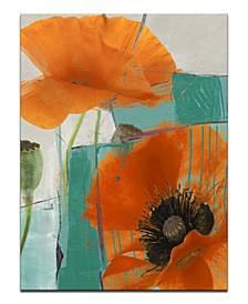 "'Painted Petals XXXIII' 40"" x 30"" Canvas Art Print"