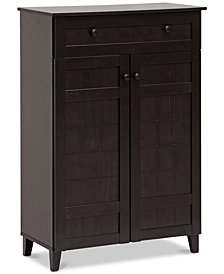 Waiola Tall Shoe Cabinet, Quick Ship