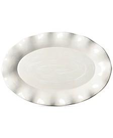 by Laura Johnson Signature Ruffle White Oval Platter