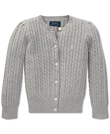 Polo Ralph Lauren Little Girls Cable-Knit Cardigan
