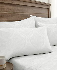 Jacquard Damask 800 Thread Count 6-Pc. California King Sheet Set