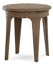 CLOSEOUT! Silver Lake Indoor/Outdoor Flat Rattan Round End Table, Created for Macy's