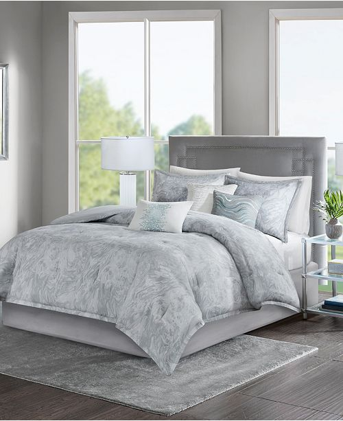 Madison Park Emory 7-Pc. Queen Comforter Set - Bed in a Bag - Bed ...