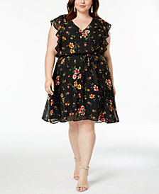 Love Squared Trendy Plus Size Ruffled Dress