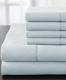 Solid Luxury 1200-Thread Count 6-Pc. Light Blue King Sheet Set